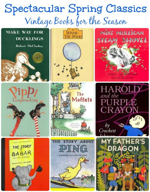Vintage kids books about Spring | Classic books for every child to read