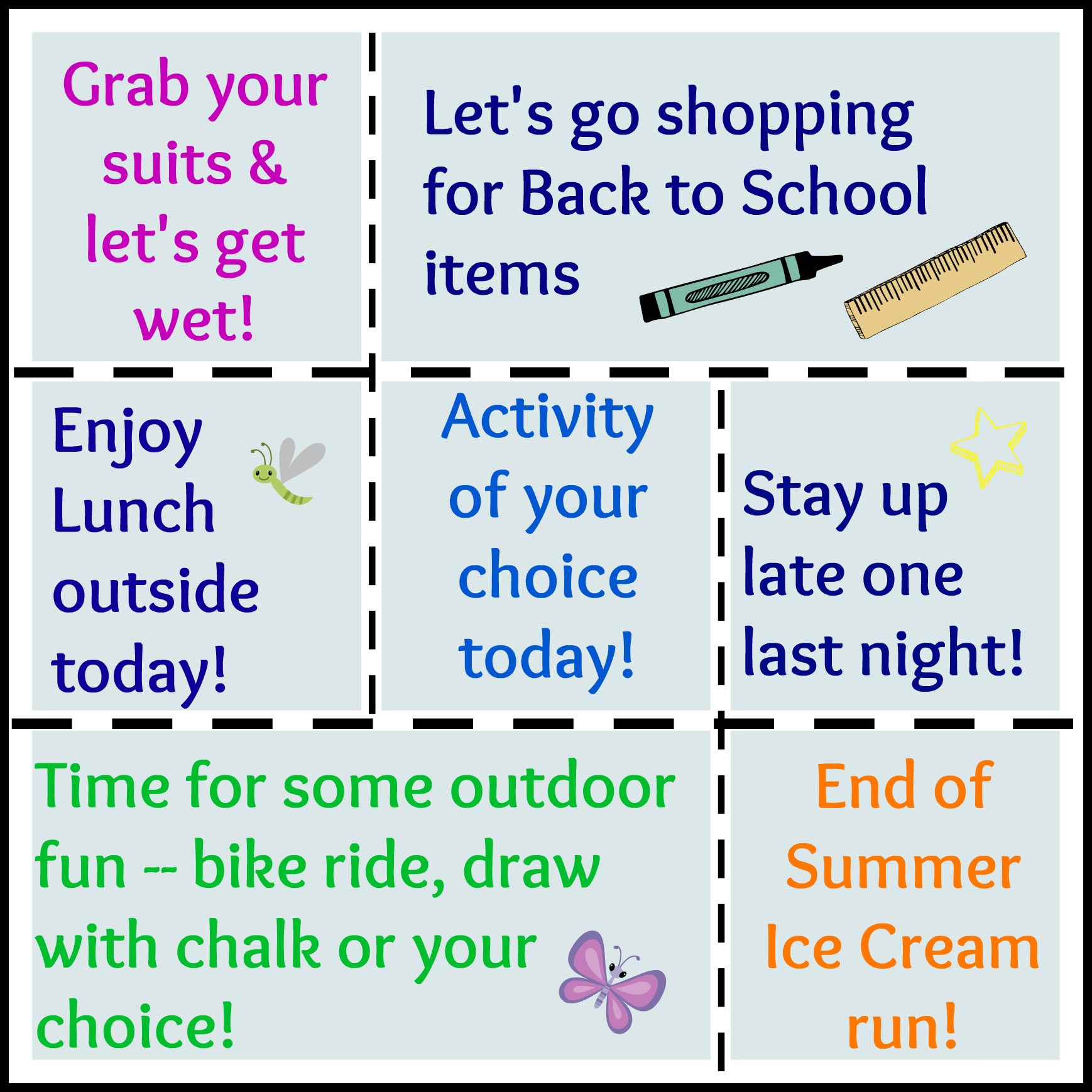 Summer Coupons for Kids free printable set  Edventures with Kids