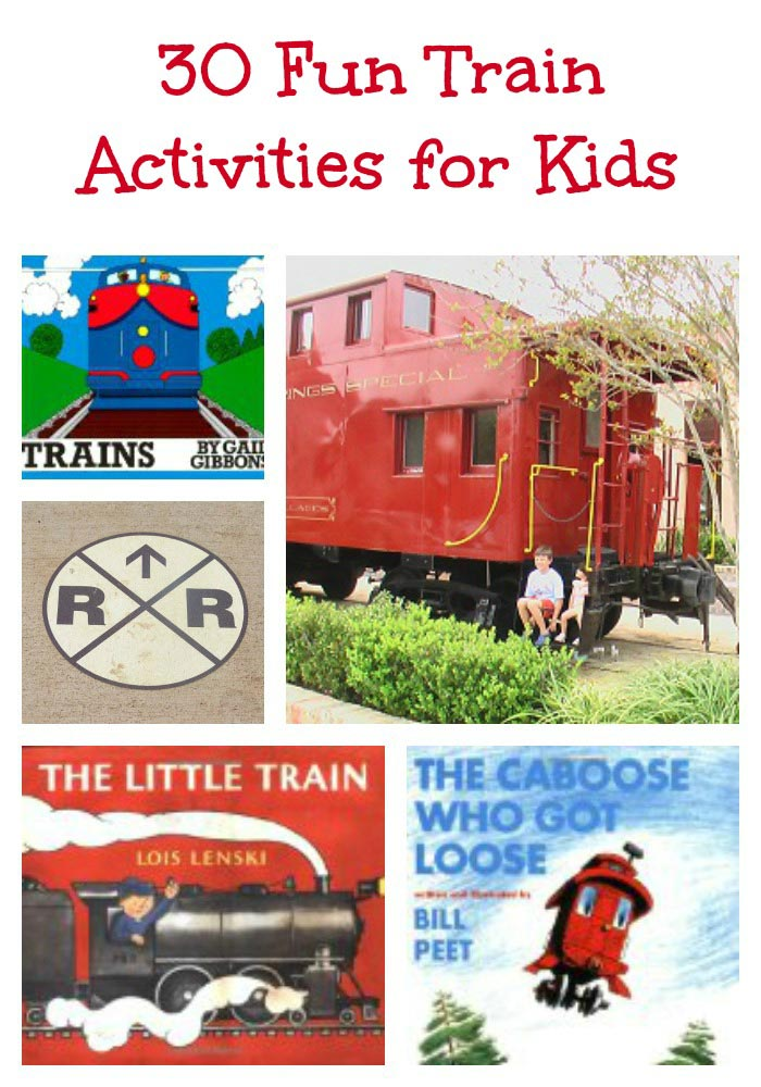 Train Activities and books for Kids
