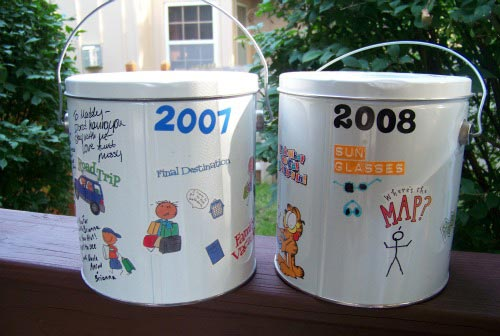 Create a Travel Bucket to keep souvenirs