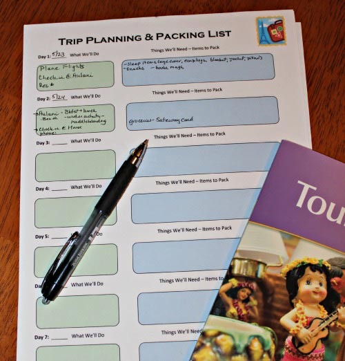Printable Travel Planning & Packing list