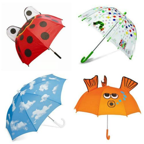 Fun Kids Umbrellas for a Rainy Day