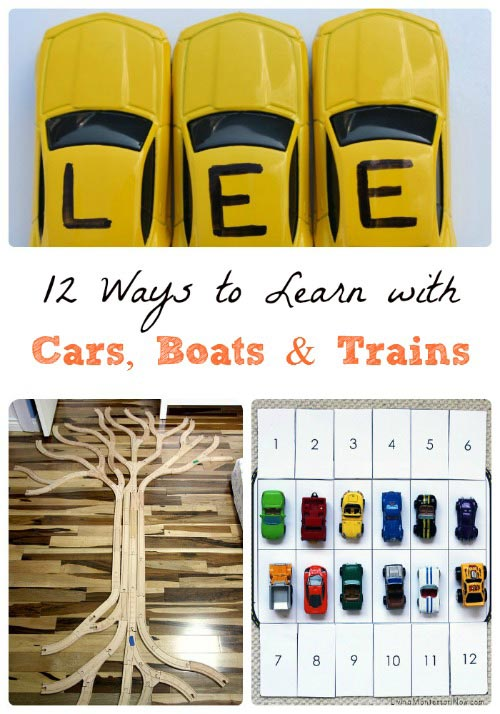 Fun Ways to Learn with Cars, Boats & Trains