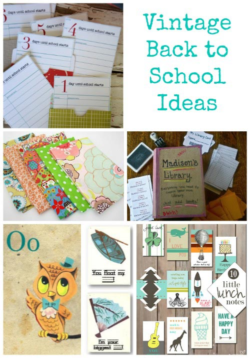 Vintage Back to School printables