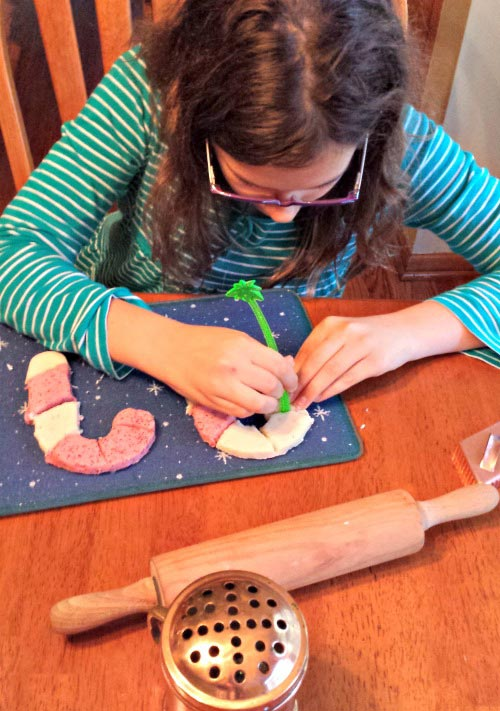 Making Candy Cane Play Dough