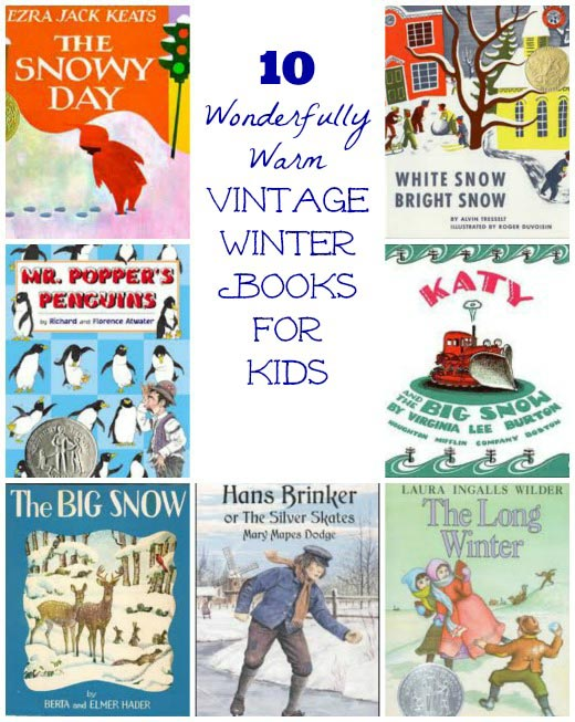 vintage winter books for kids