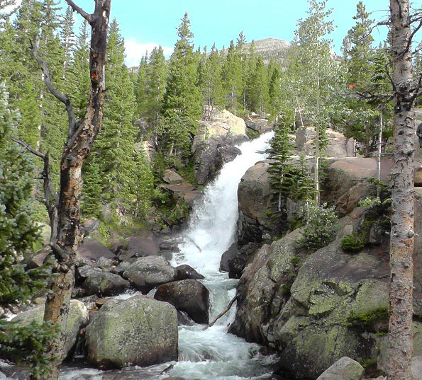Alberta Falls Rocky Mountains