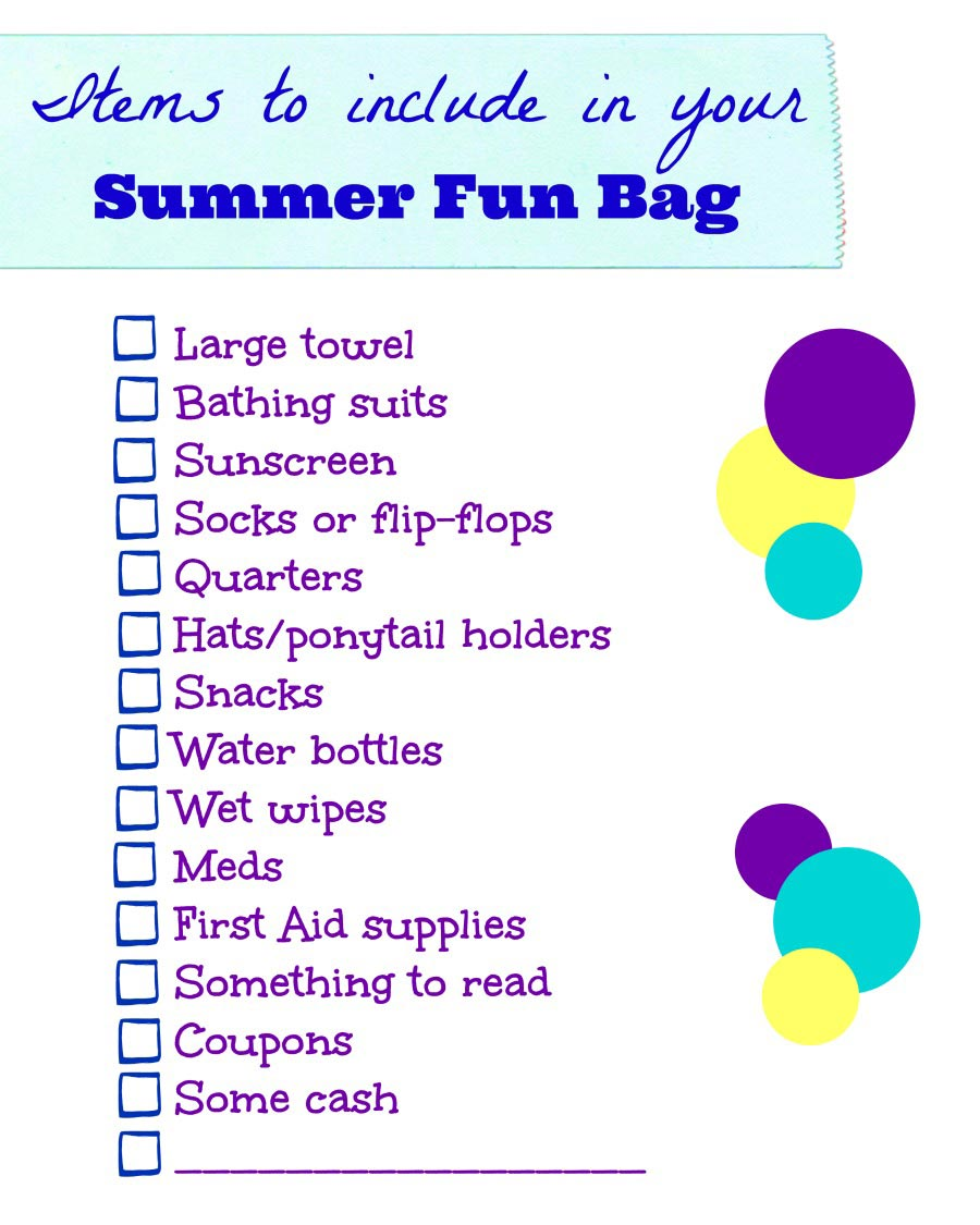things to pack in your summer bag