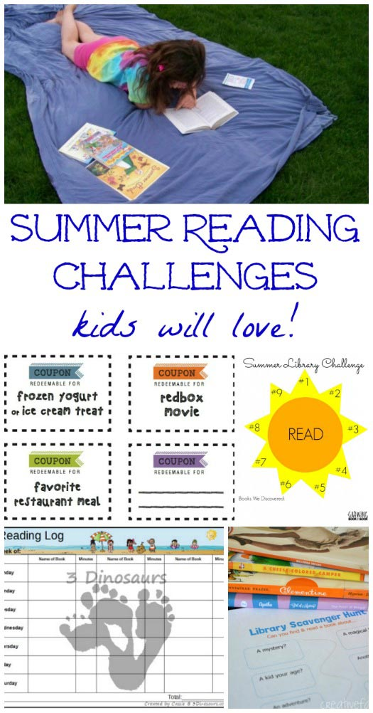 List of Summer Reading Logs and rewards for kids!