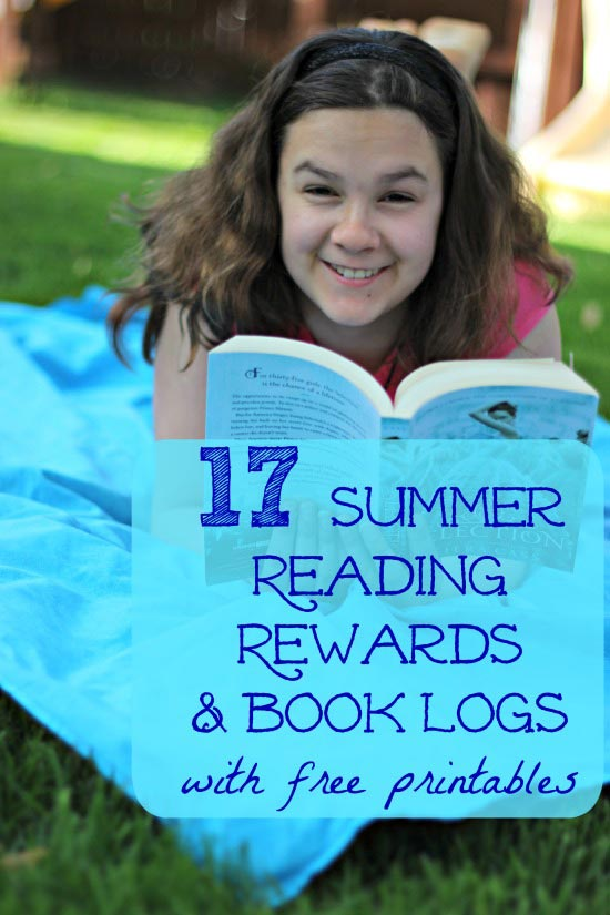 Awesome list of Summer Reading Programs, free book logs for kids and reading incentives!