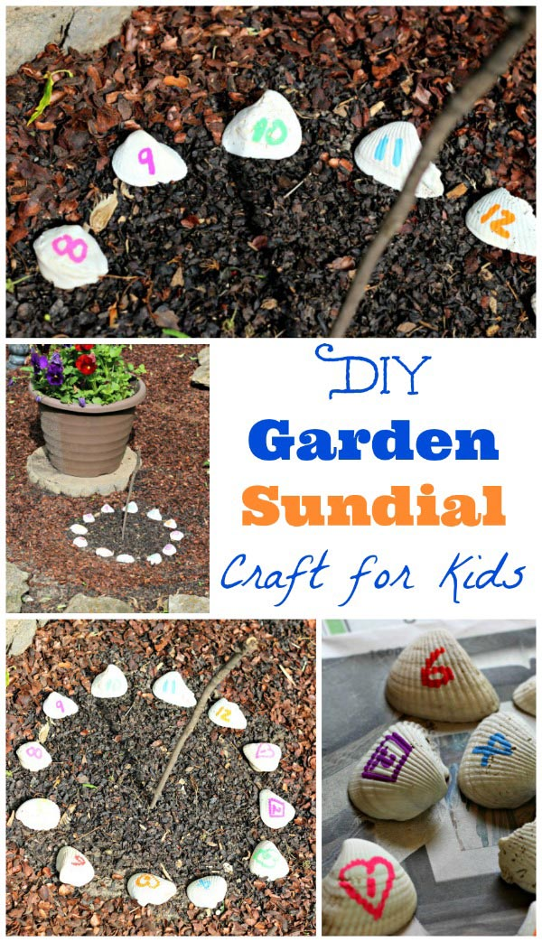DIY Sundial - great outdoor craft and STEM activity for kids!
