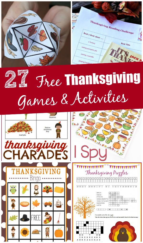 Free Thanksgiving games and activities