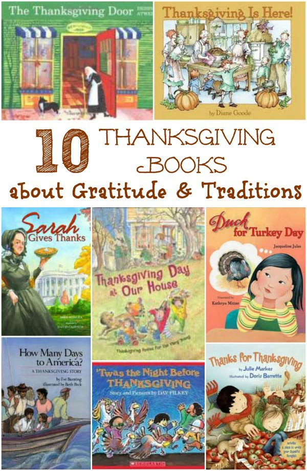 Thanksgiving books for kids - stories about gratitude and tradition