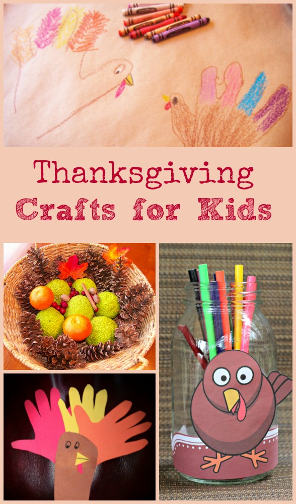 Kids crafts and activities for Thanksgiving Day
