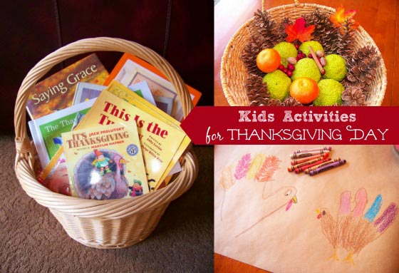 fun things for the kids to do on Thanksgiving