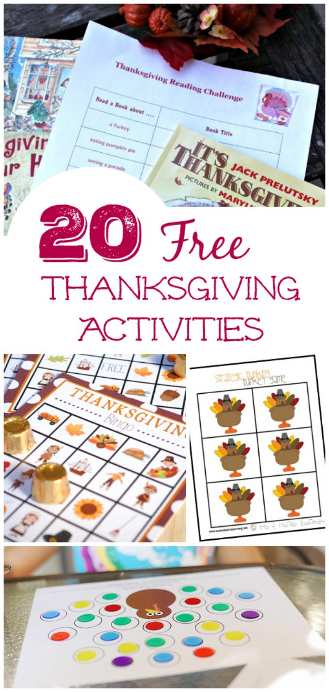 free thanksgiving games and activities for kids