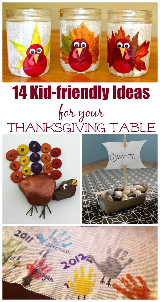 kids activities for the thanksgiving table