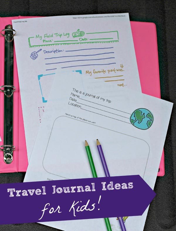 kids travel journals