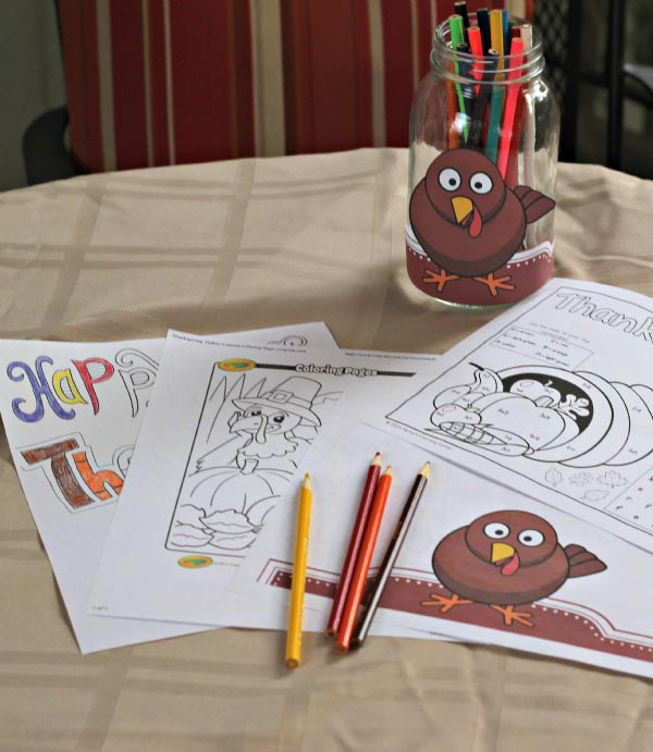 FREE Thanksgiving coloring pages for kids and adults