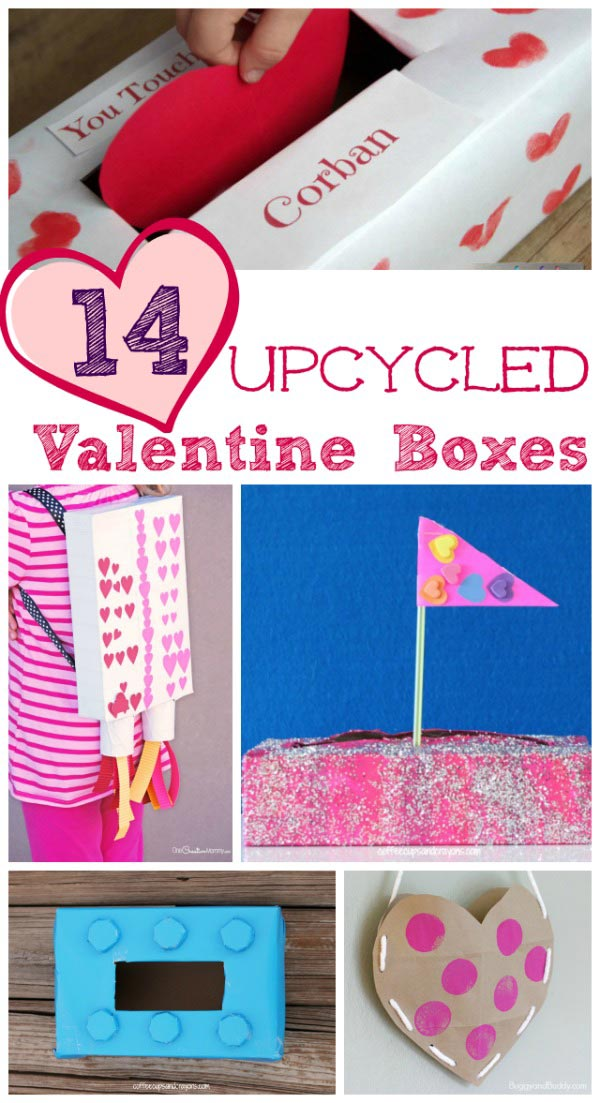 Easy and unique ideas for Valentine Box and card holders that kids can make on their own!