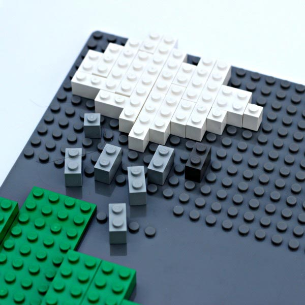 Learn the water cycle by building a LEGO model
