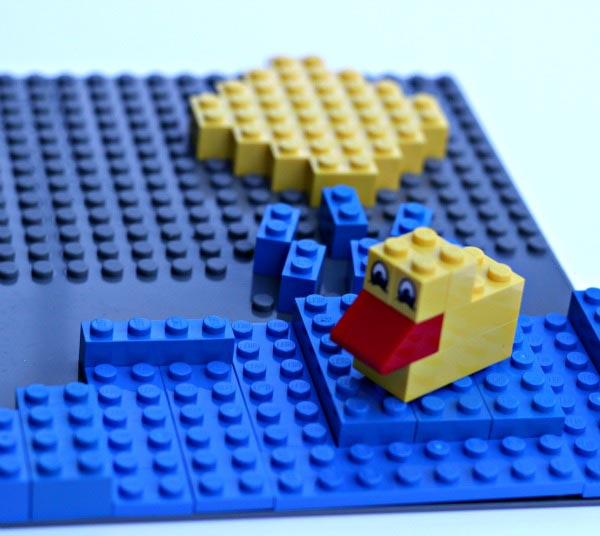 The water cycle - and easy science project using LEGOS