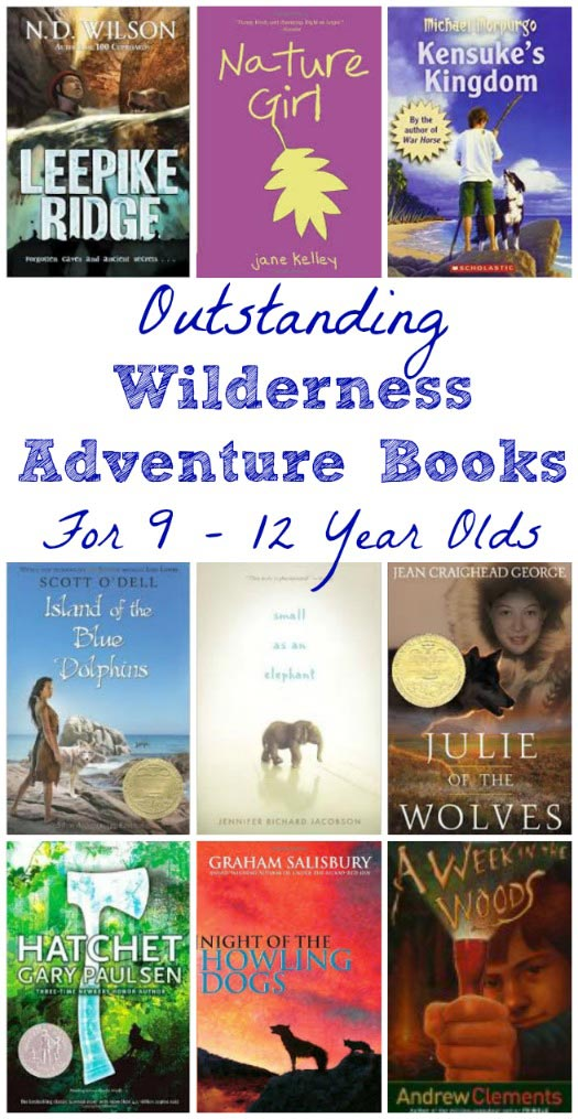 great wilderness adventure books for kids ages 9-12