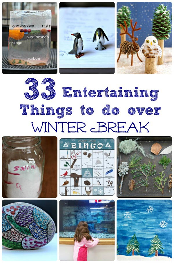 Fun Things to do in the Winter - inside activiites and outdoor ideas for kids & families!