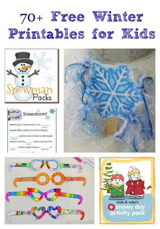 free winter printables for kids and teachers