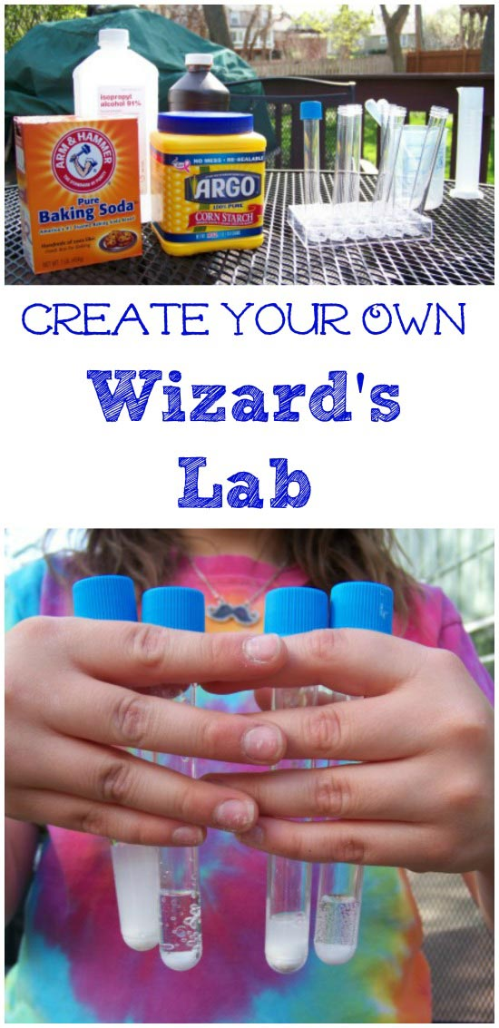 DIY wizard lab for kids