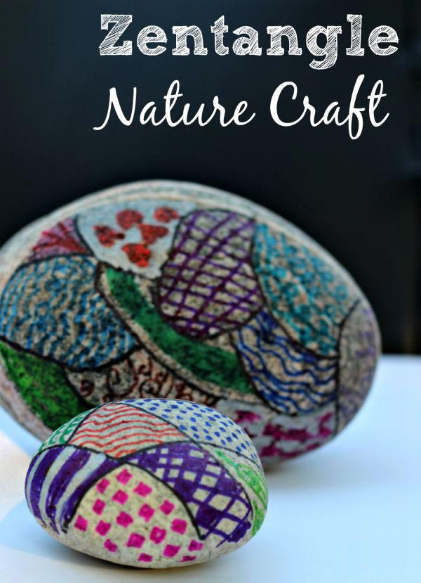 Easy nature craft for kids zentangle rocks edventures for Nature crafts for kids